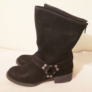 Maurice's Black/Camo Moto Boots Size 8